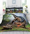 3D Digital Photo Print Dinosaur World Duvet Quilt Cover With Pillowcase Bedding