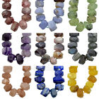 """Natural Faceted Gemstones Nugget Freeform Spacer Loose Beads 8"""" 10x15mm-13x19mm"""