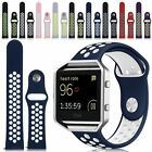 Sport Replacement Silicone Strap Wrist Band + Steel Frame For Fitbit Blaze Large