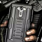 Heavy Duty Armor Shock Proof Dual Layer Holster Protective Case Cover for LG
