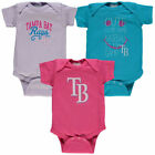 Tampa Bay Rays Soft As A Grape Baby Girl's 3 Pack Premium Bodysuit Set