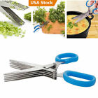 Внешний вид - Multipurpose 5 Blade Herb Scissors Cleaning Time Saving Stainless Steel Kitchen