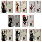 OFFICIAL AMC THE WALKING DEAD SILHOUETTES LEATHER BOOK CASE FOR SAMSUNG PHONES 1