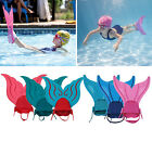 Kids/Adults Swimmable Mermaid Tails Diving Mono Swimming Fins Training Flippers