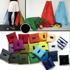 Eco Waterproof Grocery Compact Folding Reusable Shopping Bags Pouch Handbag Tote