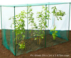 1.875m H - with 20mm BIRD NETTING High Kit Fruit Veg Cage Plant Protection Pest