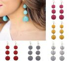 Women Bohemian Jewelry Cluster Ball Tassel Drop CRISP STATEMENT Dangle Earrings
