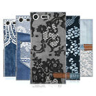 HEAD CASE DESIGNS JEANS AND LACES HARD BACK CASE FOR SONY XPERIA XZ PREMIUM