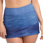 Freya Swimwear Drifter Bikini Skirt Denim 3405 NEW Select Size
