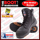 Steel Blue 'TORQUAY' 617539  Black, Composite Toe, Safety Work Boot. ZIP SIDE!