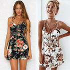 Stylish Women Summer Sleeveless Floral Evening Party Cocktail Beach Mini Dress