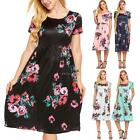 frauen boho kleid floral sommer strand cocktail - abend party lange sommerkleid