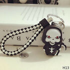 Death LED Light Torch Scary Sound Keyring Toy Halloween Party Favor Supply new