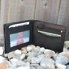 Mens Real Genuine Leather Wallet Zip Slim Luxury Thin ID Quality Soft Bifold