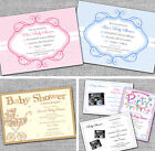 Personalised Baby Shower Invitations/Invites Blue Pink