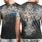 XTREME COUTURE by AFFLICTION Mens T-Shirt ENSIGN Cross Tattoo Biker MMA UFC $40