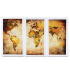 Ready to Hang Canvas Prints Canvas Wall Art Painting-Retro World Map