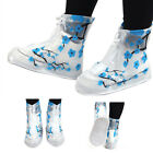 Stylish Plum Blossom Tall Boots Thicken Rain Shoes Cover for Non-slip Waterproof