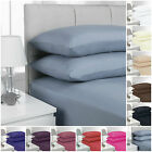 200 THREAD COUNT FITTED SHEETS PERCALE QUALITY SIZES SINGLE DOUBLE KING, TOP BUY