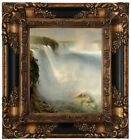 Church Niagara Falls from the American side Wood Framed Canvas Print Repro 8x10