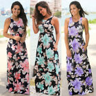 Hot New Women Fashion Cocktail Summer Floral Ladies Maxi Print Dress Casual