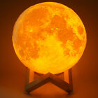 Dimmable 3D Moon Lamp USB LED Night Light Moonlight Touch Sensor Color Changing