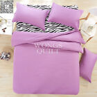 Purple Plain Duvet Cover Pillow Case Reversible Quilt Cover Bedding Set All Size
