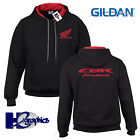 New Mens Honda Fireblade Tribute Contrast Hoodie Hooded Top Sizes Small to 2XL