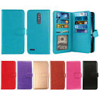 For ZTE Zmax Pro Carry Z981 Leather 9 Card Slot Holder Bifold Wallet Cover Case