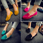 US Women Plush Vamp Loafers Moccasin Casual Slip On Anti skid Flat Comfort Shoes