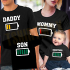 Low Battery Power T-Shirt Mother Father Son Daughter Matchin