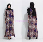 Women New Style Long Sleeve Kaftans Jilbab Muslim Islamic Fashion Maxi dress