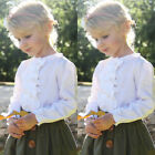 USA Toddler Kids Baby Girls Tops T-shirt Skirt 2pcs Outfits Clothes Casual Set