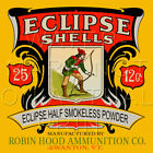 Reproduction Vintage Eclipse Shotgun Shells Box Label Canvas Print