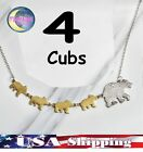 New Mama Bear With Kids Cubs Metal Mothers Day Necklace