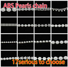Pearl beaded chain sewing Applique Trims crafts Belt Headband Dress Accessories