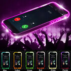 LED Flashing Light Shockproof Rubber Transparent TPU Case For iPhone 5/6/7/7Plus