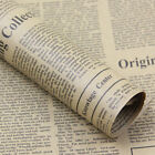 1Pcs Vintage Newspaper Wrapping Paper Gift Wrap Artware packing Package Paper