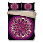 Purple Paisley Mandala Duvet Cover Pillow Cases India Quilt Cover Bedding Set