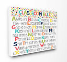 Stupell Industries The Kids Room 'Classroom Rules Colorfu...