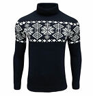 Soul Star Men's Boatsman Nordic Roll Neck Jumper Navy