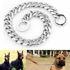 13mm 14''-26'' Silver Stainless Steel Link Curb Dog Chain Pet Training Collars