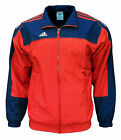 adidas Men's 3S Warm Up Training Football Jacket Red / Navy X-Small