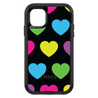 OtterBox Defender for iPhone 7 8 PLUS X XS Max XR Black Multi Color Hearts