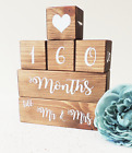 wedding countdown, wooden countdown blocks, engagement gift, bride to be present