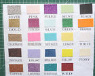 25 x A5 sheets quality Low shed Glitter card  220 gsm 24 colours