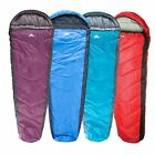 Trespass Doze 3 Season Camping Sleeping Bag Mummy Shape Water Repellent