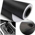 3D Carbon Fiber Vinyl Car Wrap Sheet Roll Film Car Stickers Motorcycle Decal US