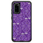 OtterBox Defender for Galaxy S5 S6 S7 S8 S9 PLUS Purple White Floral