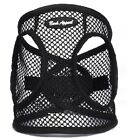 """Dog Harness BLACK Step In Netted EZ Wrap Choke Free -Up to 25"""" Chest Bark Appeal"""